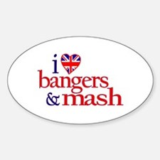 Bangers and Mash Oval Decal