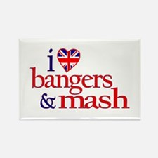 Bangers and Mash Rectangle Magnet