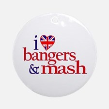 Bangers and Mash Ornament (Round)