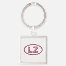 LZ Pink Square Keychain