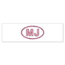 MJ Pink Bumper Sticker 50 Pack