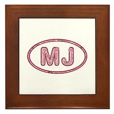 MJ Pink Framed Tile
