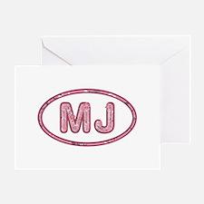 MJ Pink Greeting Card