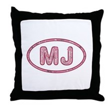 MJ Pink Throw Pillow