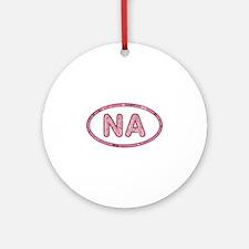 NA Pink Round Ornament