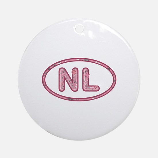 NL Pink Round Ornament