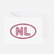 NL Pink Greeting Card