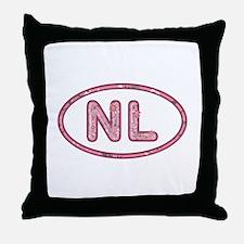 NL Pink Throw Pillow