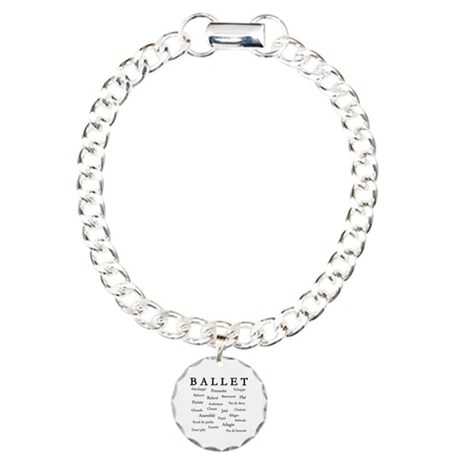 Ballet Words Charm Bracelet, One Charm