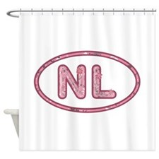 NL Pink Shower Curtain