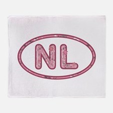 NL Pink Throw Blanket