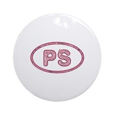PS Pink Round Ornament