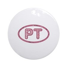 PT Pink Round Ornament