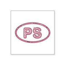 PS Pink Square Sticker