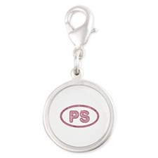 PS Pink Silver Round Charm