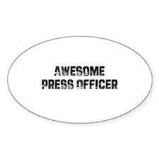 Awesome Press Officer Oval Decal