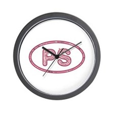 PS Pink Wall Clock