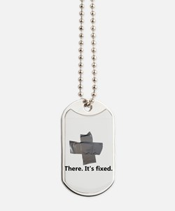 there. it's fixed. duct tape Dog Tags
