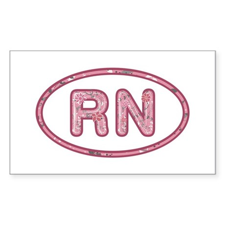RN Pink Rectangle Sticker