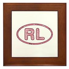 RL Pink Framed Tile
