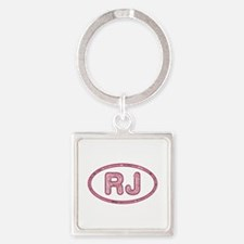 RJ Pink Square Keychain