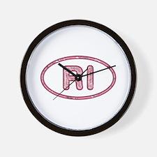 RI Pink Wall Clock