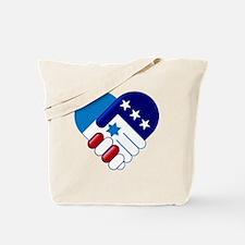 Israel and America Tote Bag