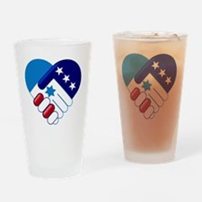 Israel and America Drinking Glass