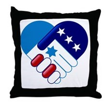 Israel and America Throw Pillow