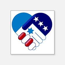 "Israel and America Square Sticker 3"" x 3"""
