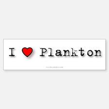 I Love Plankton Bumper Car Car Sticker