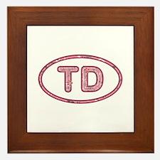 TD Pink Framed Tile