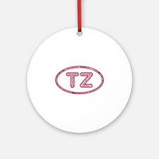 TZ Pink Round Ornament
