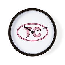 TC Pink Wall Clock