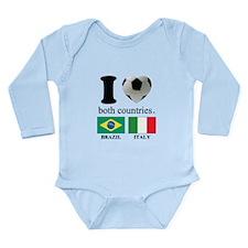 BRAZIL-ITALY Long Sleeve Infant Bodysuit