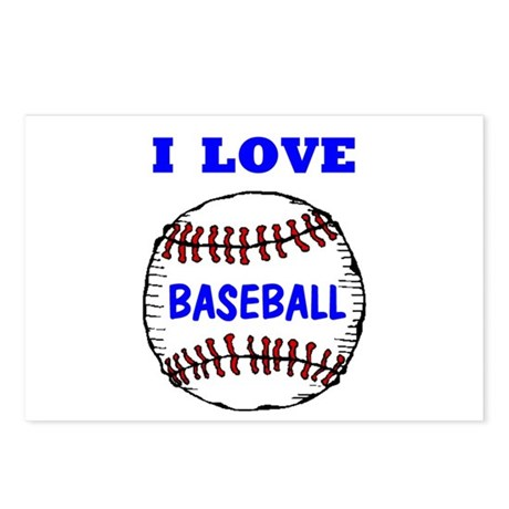 LOVE BASEBALL Postcards (Package of 8)