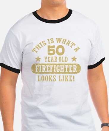 50th Birthday Firefighter T-Shirt