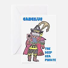 Gangilus The Deep Sea Pirate Greeting Cards