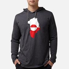 Cute Greenland Mens Hooded Shirt