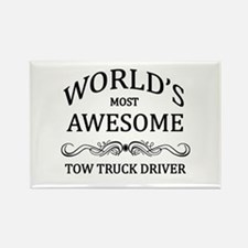 World's Most Awesome Tow Truck Driver Rectangle Ma