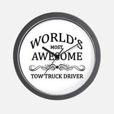 World's Most Awesome Tow Truck Driver Wall Clock