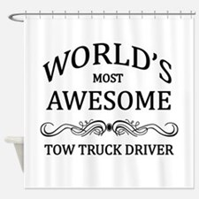 World's Most Awesome Tow Truck Driver Shower Curta