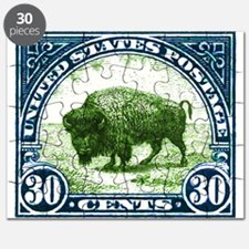 Antique 1923 U.S. American Bison Postage Stamp Puz