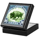 Antique 1923 U.S. American Bison Postage Stamp Kee