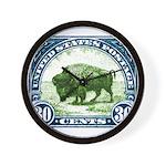 Antique 1923 U.S. American Bison Postage Stamp Wal