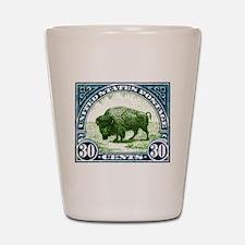Antique 1923 U.S. American Bison Postage Stamp Sho