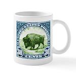 Antique 1923 U.S. American Bison Postage Stamp Mug