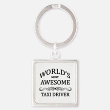 World's Most Awesome Taxi Driver Square Keychain