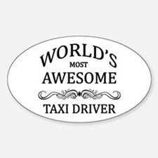 World's Most Awesome Taxi Driver Decal