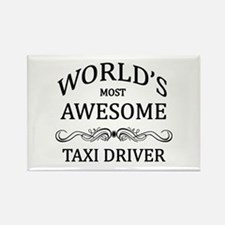 World's Most Awesome Taxi Driver Rectangle Magnet